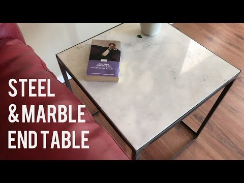 DIY Modern Side Table / End Table // Marble & Steel