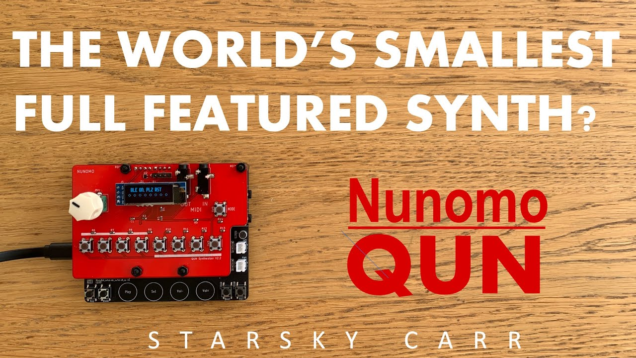 Download Is the Nunomo QUN the smallest Full Featured Synth ever made?? It's tiny... it's VERY tiny