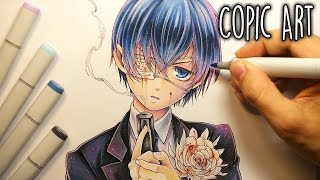 Drawing ~ Ciel Phantomhive (Black Butler) (Copic Illustration)