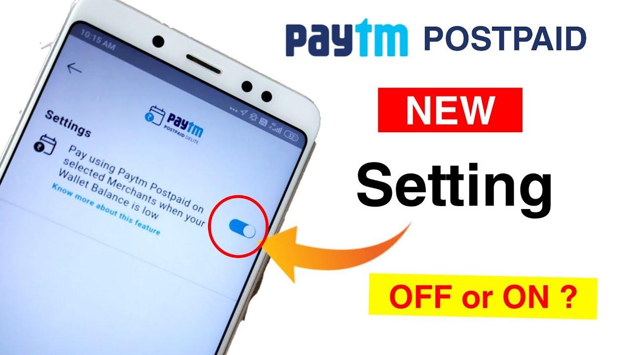 Paytm postpaid Ka new setting Launch 😍| Paytm postpaid merchant payment setting | postpaid balance 🥰