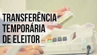A transferência temporária de eleitor trata-se de um serviço que visa ajudar os eleitores que necessitam transferir a sua seção eleitoral para votação no ...