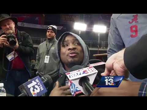 Alabama teammates hijack Tony Brown interview at national championship media day