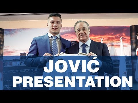 Watch Live: Real Madrid unveil Luka Jovic - Real Madrid presentation