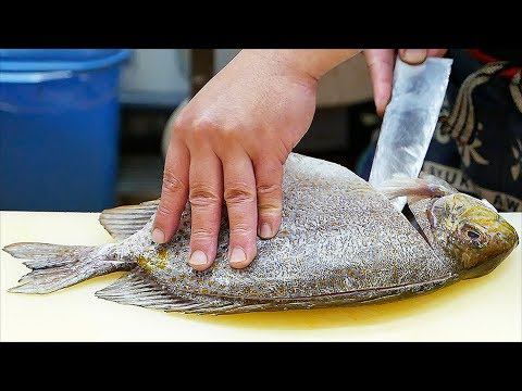 Japanese Street Food - RABBIT FISH Sashimi Tempura Okinawa Seafood Japan