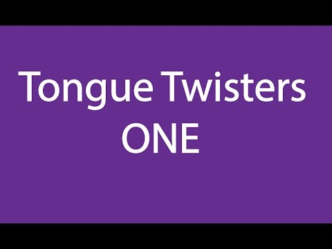 Tongue Twisters: 1