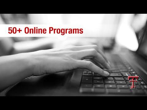 Texas Tech: 50+ Online Programs