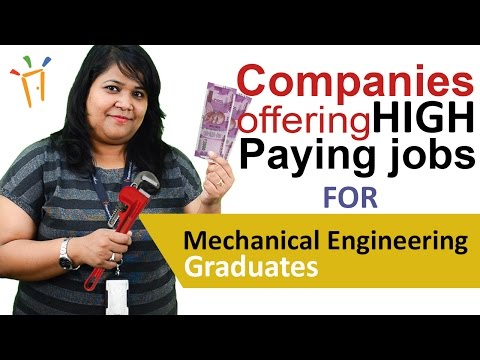 Companies in India offering high paying jobs to #Mechanical engineering graduates – Salaries