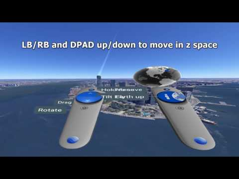 Google Earth VR without Touch (tracked motion controllers) using XBOX controller on Steam