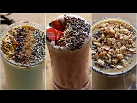 Healthy Smoothie Recipes For Weight Loss - Vegan (No Milk) - Oats Breakfast Smoothies-Skinny Recipes