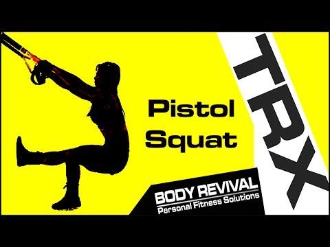 TRX Exercise Pistol Squat