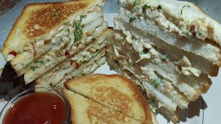 Chicken mayo sandwich l Chicken sandwich recipe
