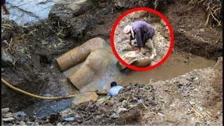 Archaeologists Unearth Giant Statue With Elongated Skull In Egypt