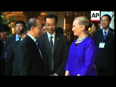 Clinton meets Myanmar president Thein Sein
