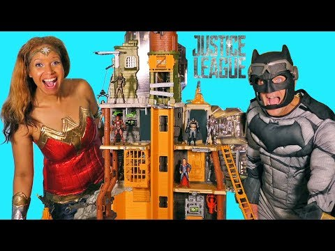Justice League Ultimate Justice Battleground Playset + Toy Challenge ! || Toy Review || Konas2002