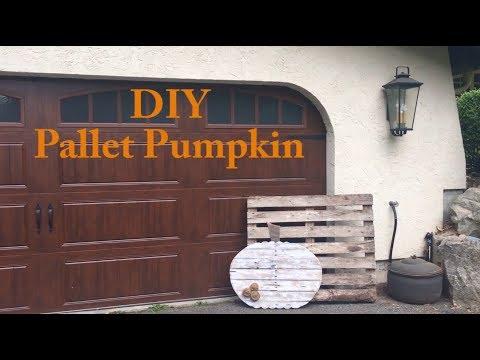 DIY Halloween Pallet Pumpkin