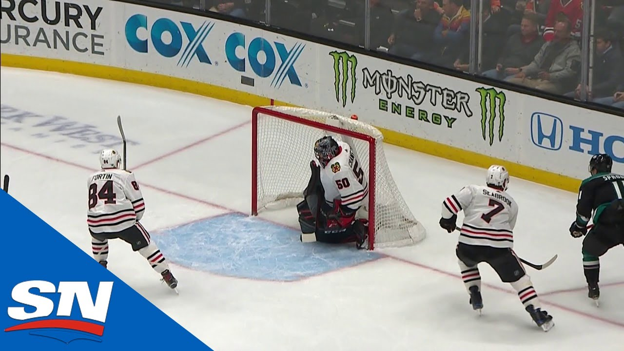 Daniel Sprong Banks It In Off Corey Crawford From A Sharp Angle