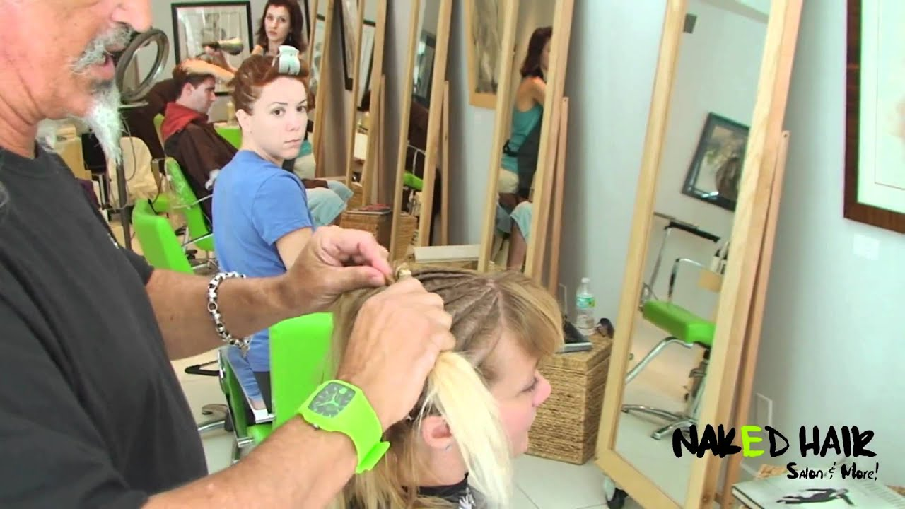 Naked hair salon
