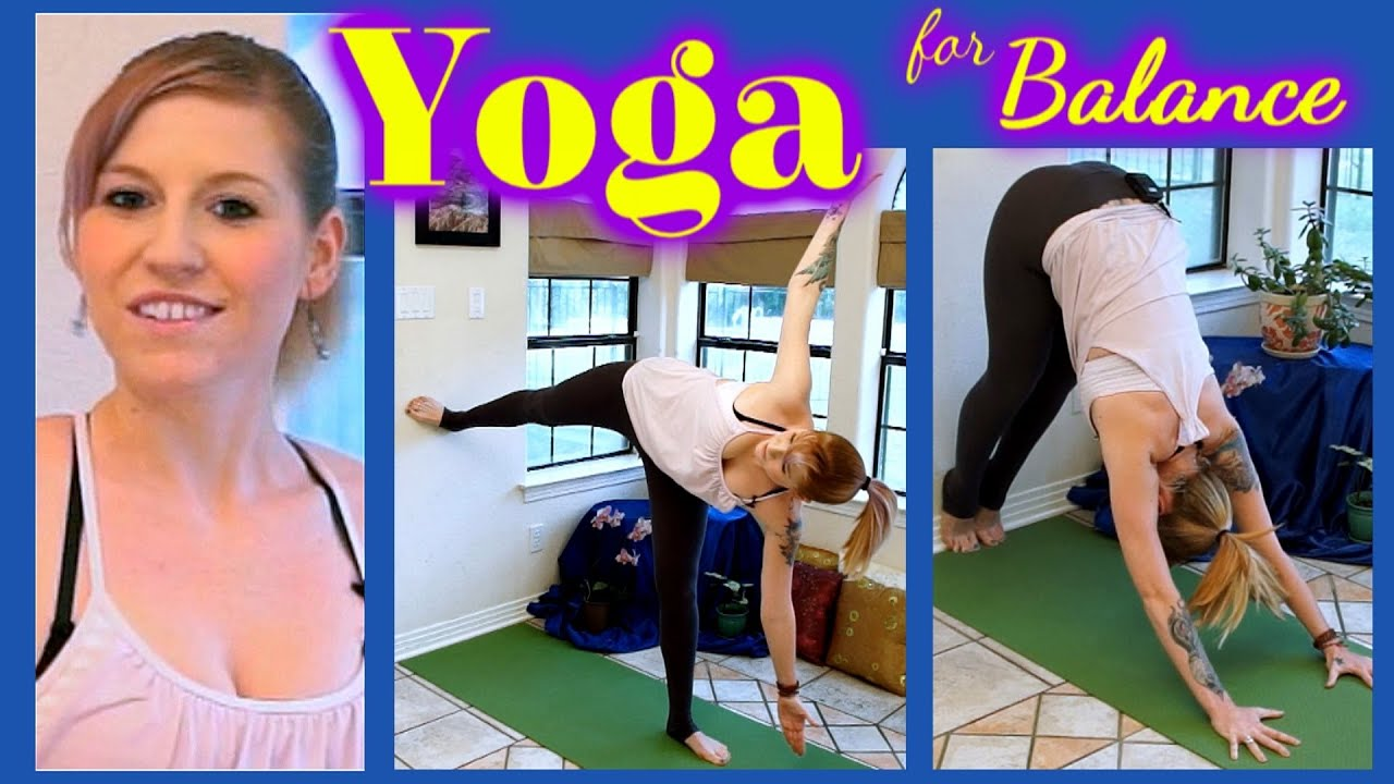 26c6bb18936 Beginner Yoga For Balance   Flexibility - 10 Minute Wall Yoga Routine Class  - Cindie Corbin