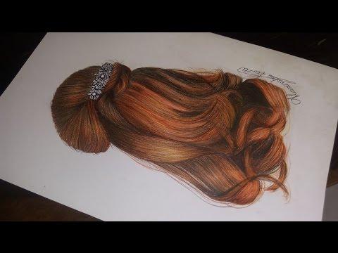 Como Pintar Um Cabelo Ruivo Tutorial Hair Drawing Youtube