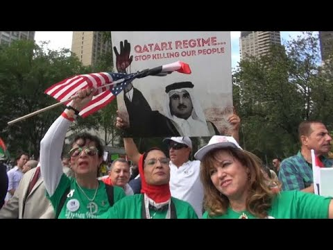 Protestos às portas da ONU em Nova Iorque