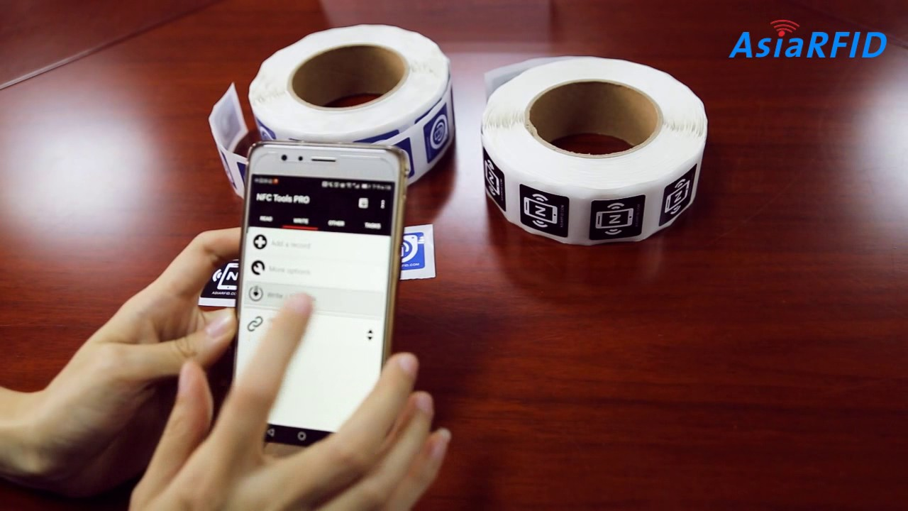 How To Make Data Encoding On NFC Tag By your Phone, Read ...
