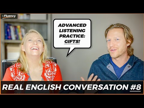 Advanced English Conversation Lesson #8: Gifts 🎁 🎅 (learn real English w/ subtitles)