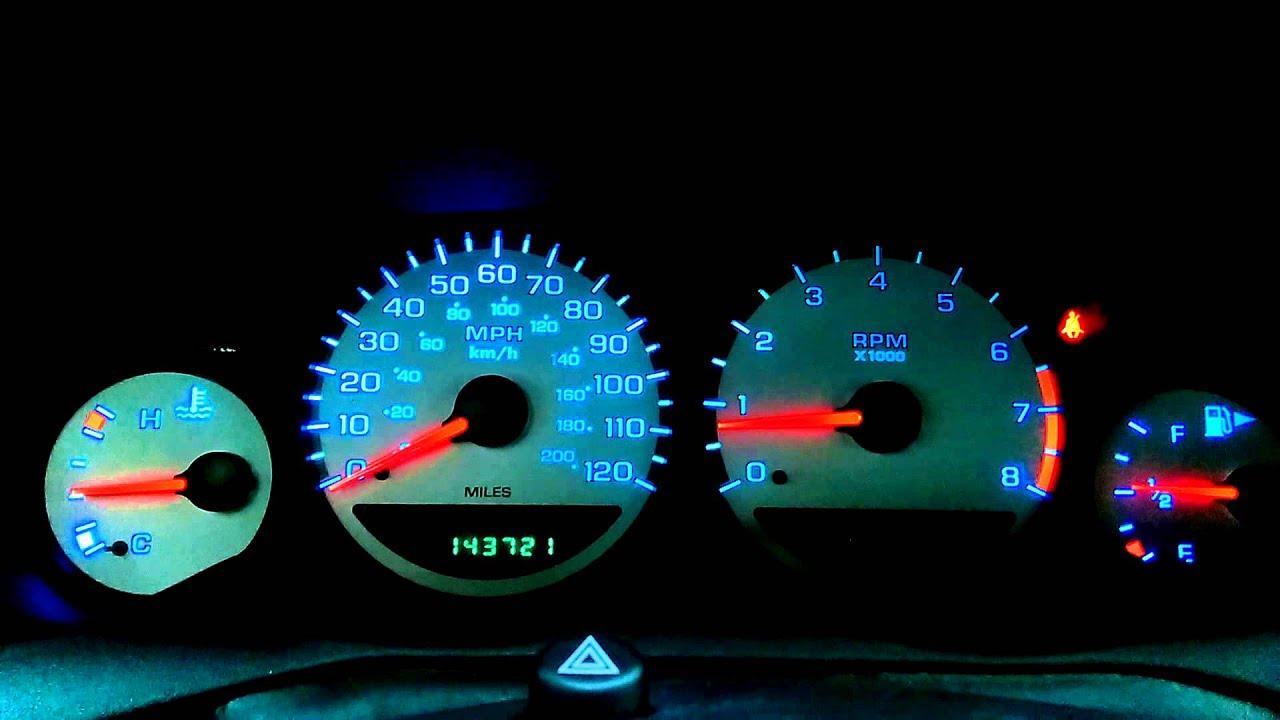 2004 Dodge Neon Sxt Led Dash Light Conversion Youtube