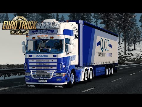 """[ETS2] QCP Transport """"Wolf Pack"""" SCANIA 124L 420 Hamburg ~ Palermo 1/4"""