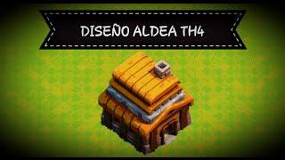 Diseño aldea ayuntamiento 4 TH4   Clash of Clans