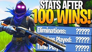 My STATS After My 100th SOLO Fortnite Victory Royale! - Fortnite 100 Solo Win Stats