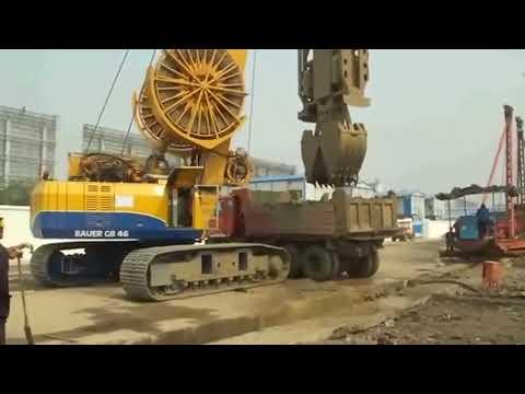 Грейферный экскаватор для устройства бетонируемых стен в грунте