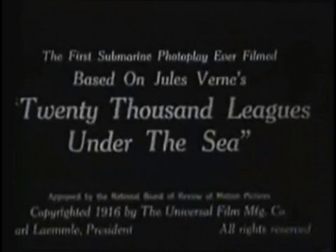 20,000 Leagues Under the Sea 1916 Silent Movie Adventure Science Fiction