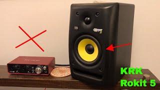How To Use KRK Rokit 5 G3 Studio Monitor Speakers Review