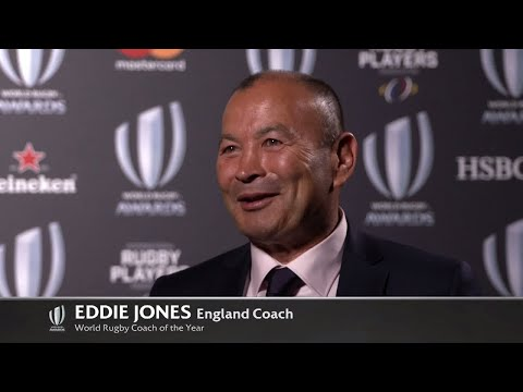 Eddie Jones wins World Rugby Coach of the Year 2017