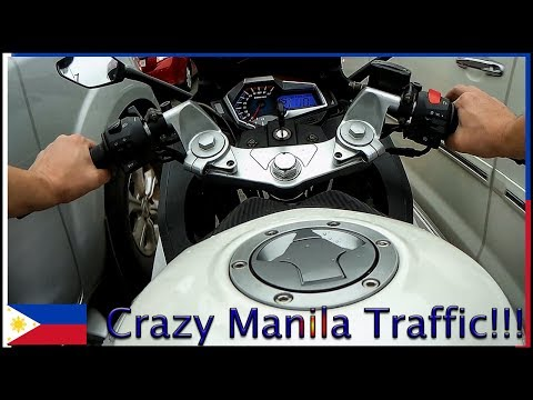 First time riding a motorcycle in Manila