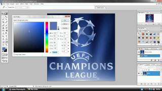 how to make effect logo uefa champions league in photoshop