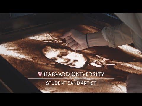 Harvard Student Sand Artist