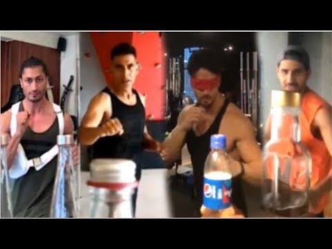 Bollywood Celebs Trying BOTTLE CAP CHALLENGE Video- Tiger Shroff, Sidharth Malhotra, Akshay Kumar