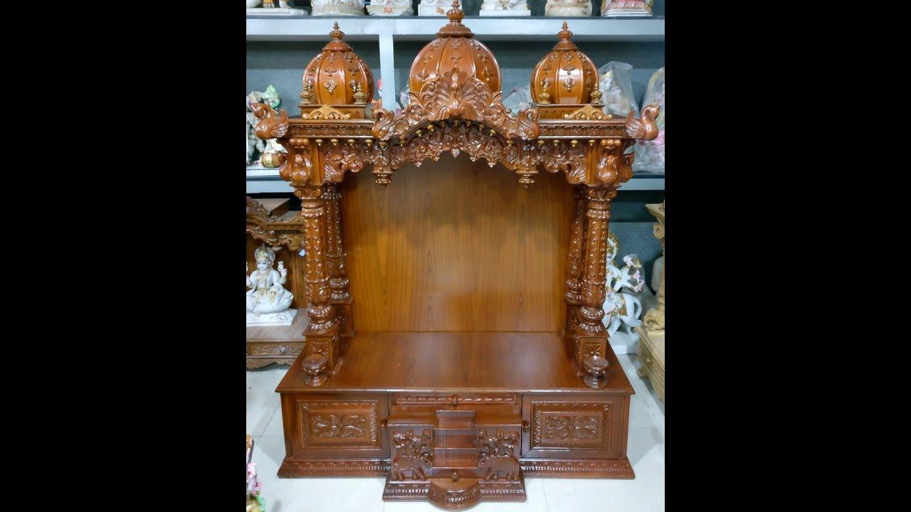 Teak Wood Mandir For Home Gmb Sculptures M 91 98 79 56