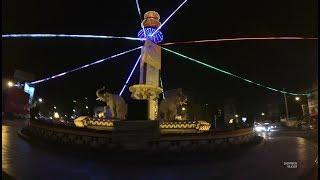 Putaran Tugu Adipura Patung Gajah Main Bola Bandar Lampung Tengah Malam Mei 2017