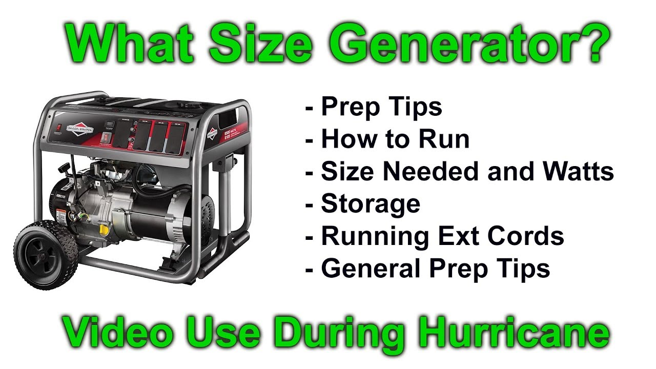 medium resolution of what size generator for home