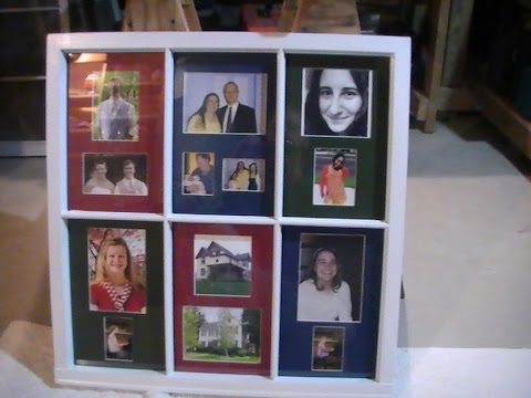 Upcycled Picture Frame From An Old Window Youtube