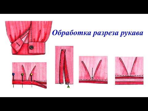 Обработка разреза низа рукава окантовкой. Технология пошива