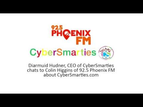 Diarmuid Hudner, CEO of CyberSmarties chats to Colin Higgins of Phoenix 92.5FM