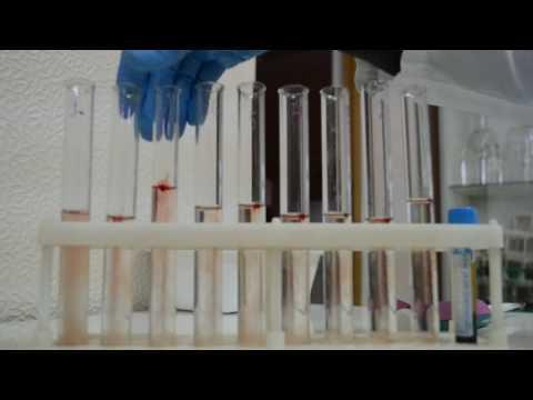 Определения осмотической резистентности эритроцитов