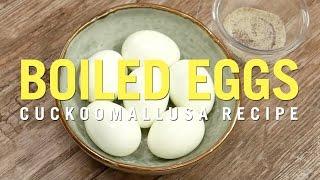 Cuckoo Rice Cooker Recipe: Boiled Eggs