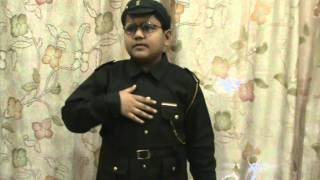 Fancy Dress Competition - Priyanuj as Subhash Chandra Bose