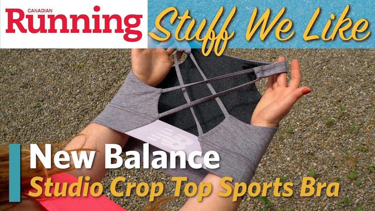 0a7777891bcb4c STUFF WE LIKE  New Balance Studio Crop Top Women s Sports Bra. Canadian  Running Magazine