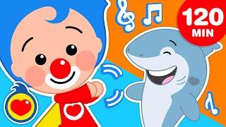 Plim Plim Shark   Y Las Mejores Canciones Infantiles Para Bailar  (120 Min) ♫ Plim Plim