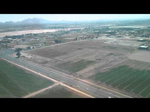 Landing at Mesa-Gateway airport in Phoenix HD